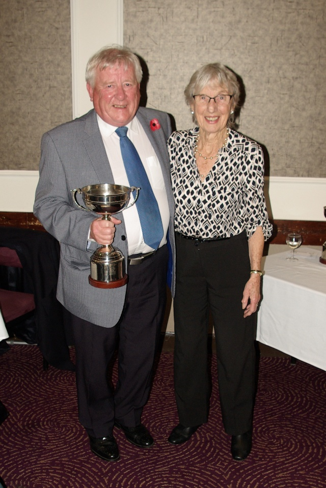 The Arthur Christieson Trophy - presented by Evelyn to Brian on behalf of David Morton