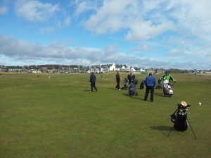 A sunny spring day in Carnoustie
