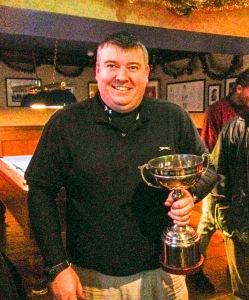 David Morton gets his mitts on the Arthur Christieson Trophy