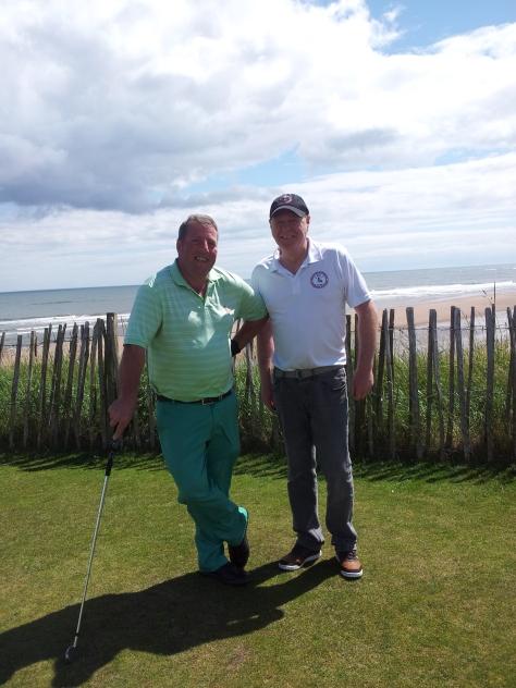 Club Captain, Andy Gilbride and  Club Secretary, Jim Simpson