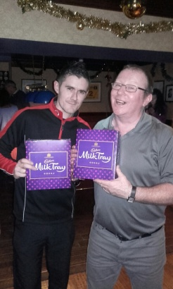 Darts champs - Clark and Meeks. All because the lady loves ....