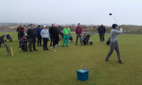 Stan tees off at the 1st